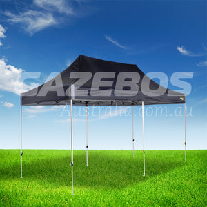 OZtrail Deluxe 6.0 Gazebo with Black Canopy 6m x 3m