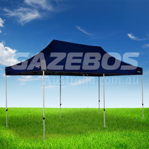OZtrail Deluxe 6.0 Gazebo with Blue Canopy 6m x 3m
