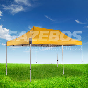 OZtrail Deluxe 6.0 Gazebo with Yellow Canopy 6m x 3m