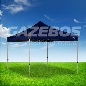 OZtrail Deluxe 2.4 Gazebo with Blue Canopy 2.4m x 2.4m