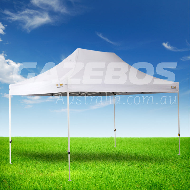OZtrail Deluxe Commercial 4.5 Gazebo with White Canopy 4.5m x 3m