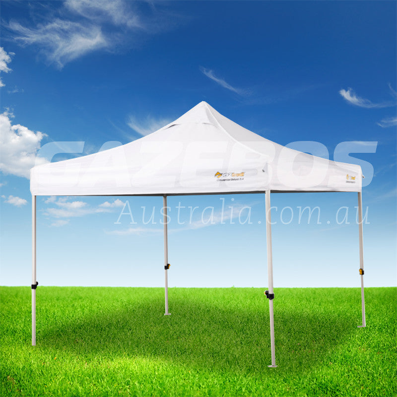 OZtrail Deluxe Commercial 3.0 Gazebo with White Canopy 3m x 3m