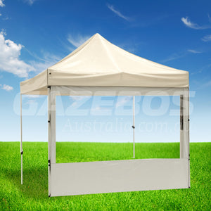 3m OZtrail Gazebo Heavy Duty Side Wall with PVC Window and White Border