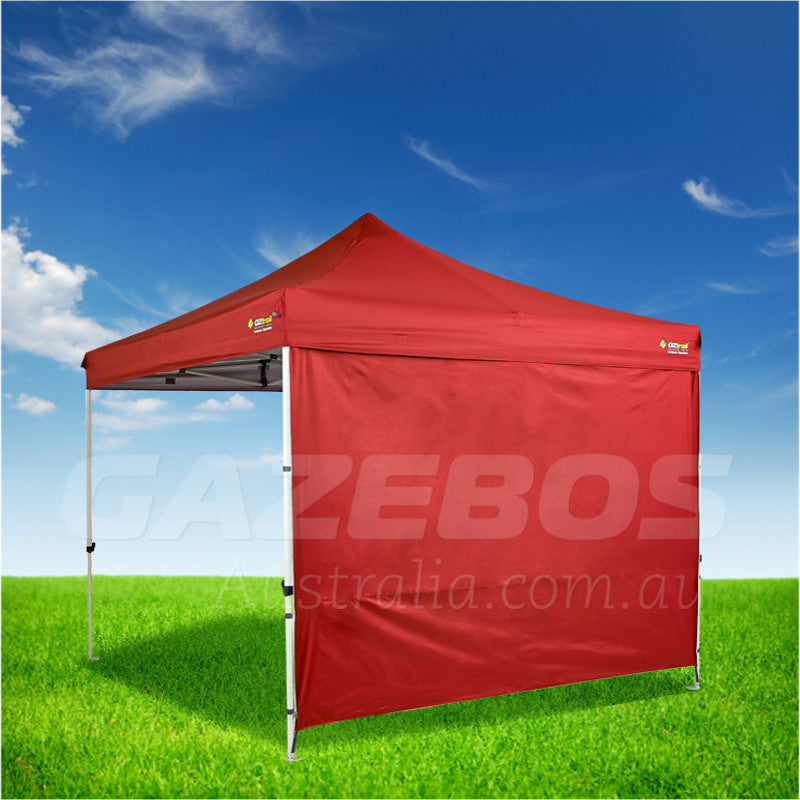 3m OZtrail Gazebo Heavy Duty Side Wall Red