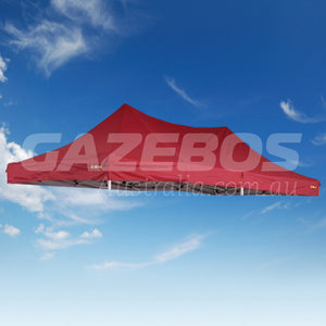 6m x 3m Replacement Canopy for OZtrail Deluxe 6.0 Gazebo Red Pavilion
