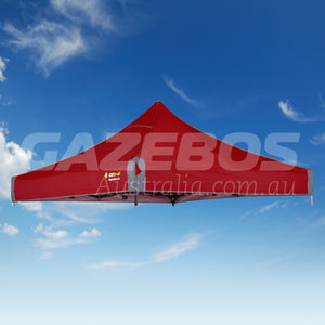 2.4m X 2.4m Replacement Canopy for OZtrail Fiesta Deluxe Gazebo Red