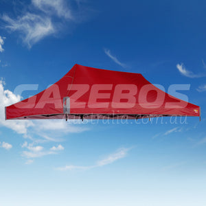 6m x 3m Replacement Canopy for OZtrail Fiesta Deluxe 6.0 Gazebo Red