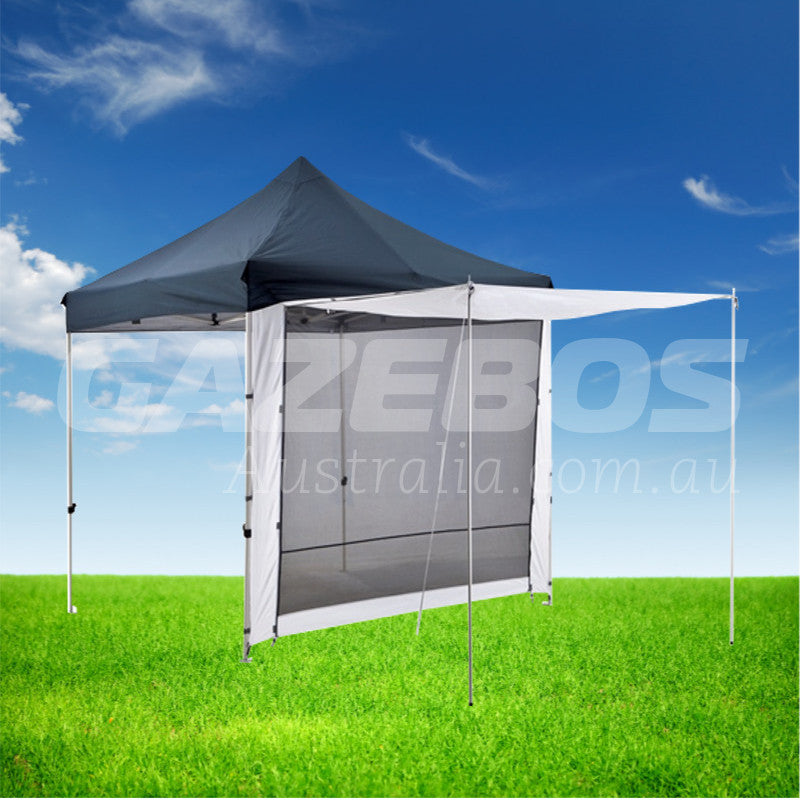 3m OZtrail Gazebo Solid Side Wall with 2 Zip Doorway