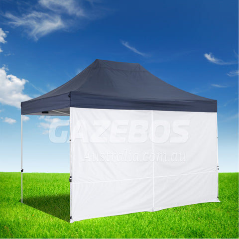 4.5m OZtrail Gazebo Solid Side Wall with Centre Zip