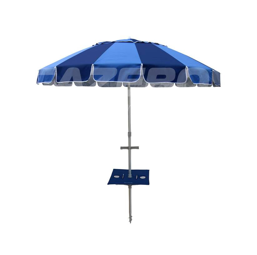 Beachkit Carnivale 240cm Beach Umbrella With Sunraker Pole Table