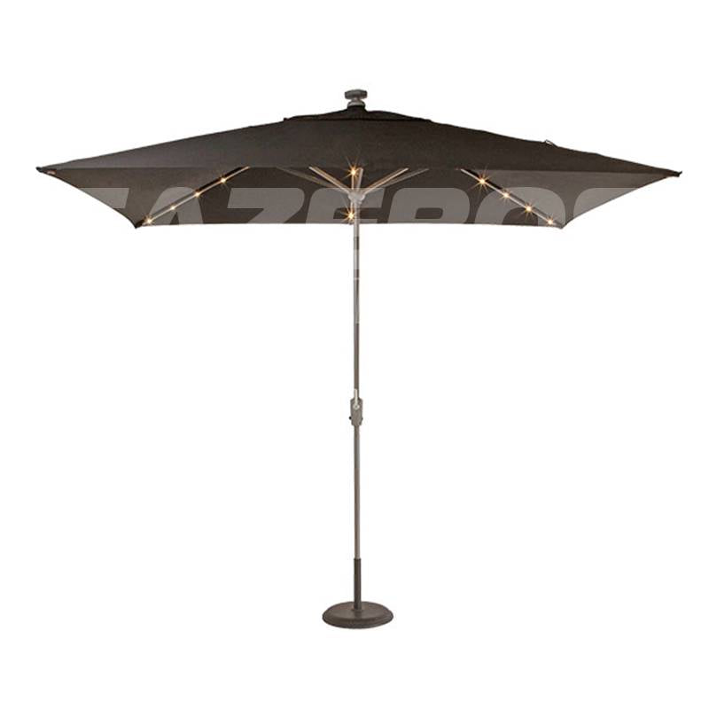 Shelta Lumina LED Rectangular Aluminum Umbrella
