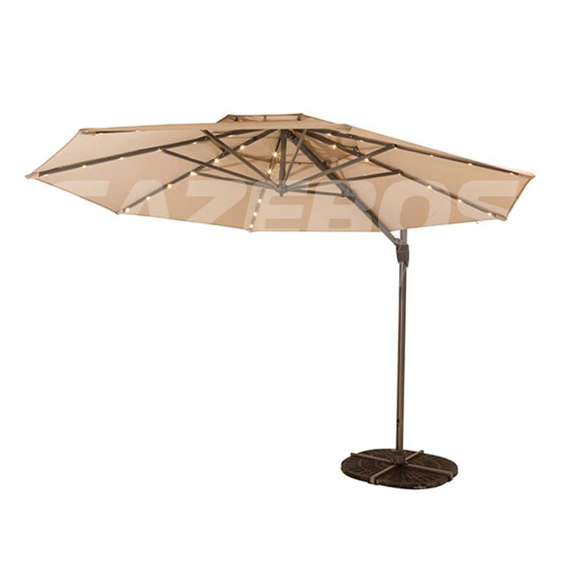 Shelta Octagonal Windemere LED Cantilever Umbrella