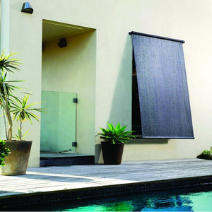 Coolaroo 95% UV Retractable Blind 2.4m wide x 2.1m drop