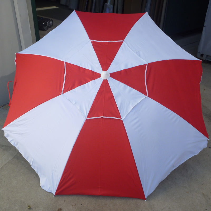 Shelta Pacific Red White 200cm Beach Umbrella