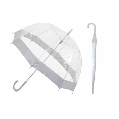 Shelta Birdcage Umbrella with White Border