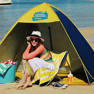 Shelta 2.3m x 1.5m Cancer Council Family Pop-up Cabana with UPF50+