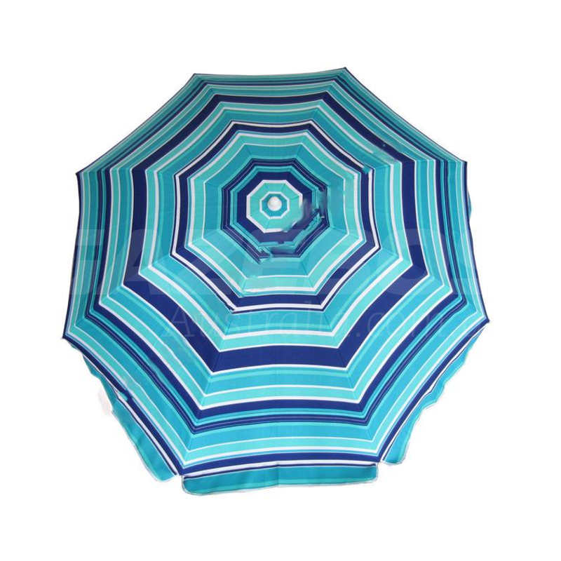 Shelta Cottesloe 200cm Beach Umbrella Navy/Turquoise 98% UV Protection Tilt Top Vent