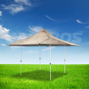 OZtrail Shade Max 6.0 Gazebo with Natural Canopy 6m x 6m