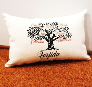Lumbar pillow - Family tree