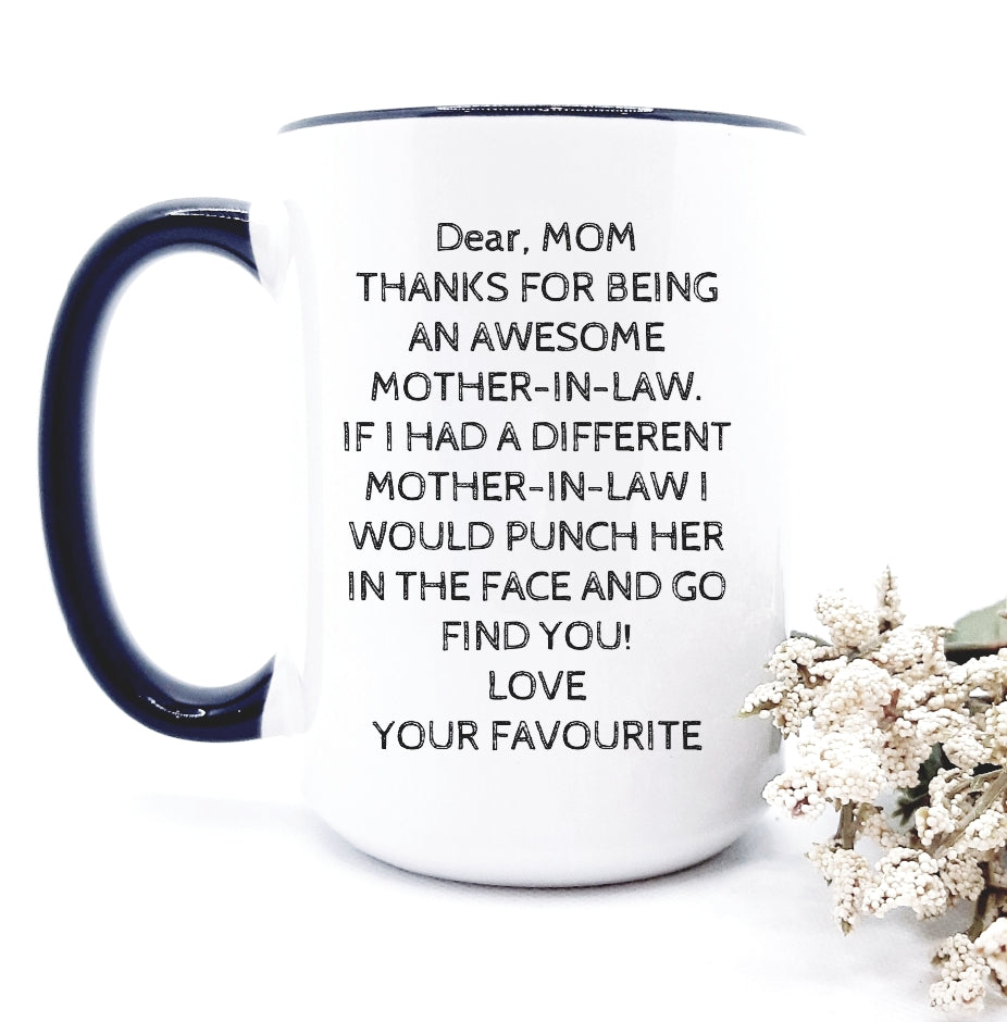 Dear mom - thanks for being .....