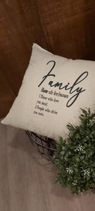 Family pillow (definition)