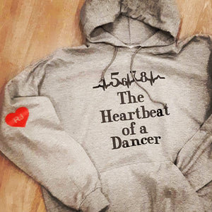 Heartbeat of a dancer hoodie