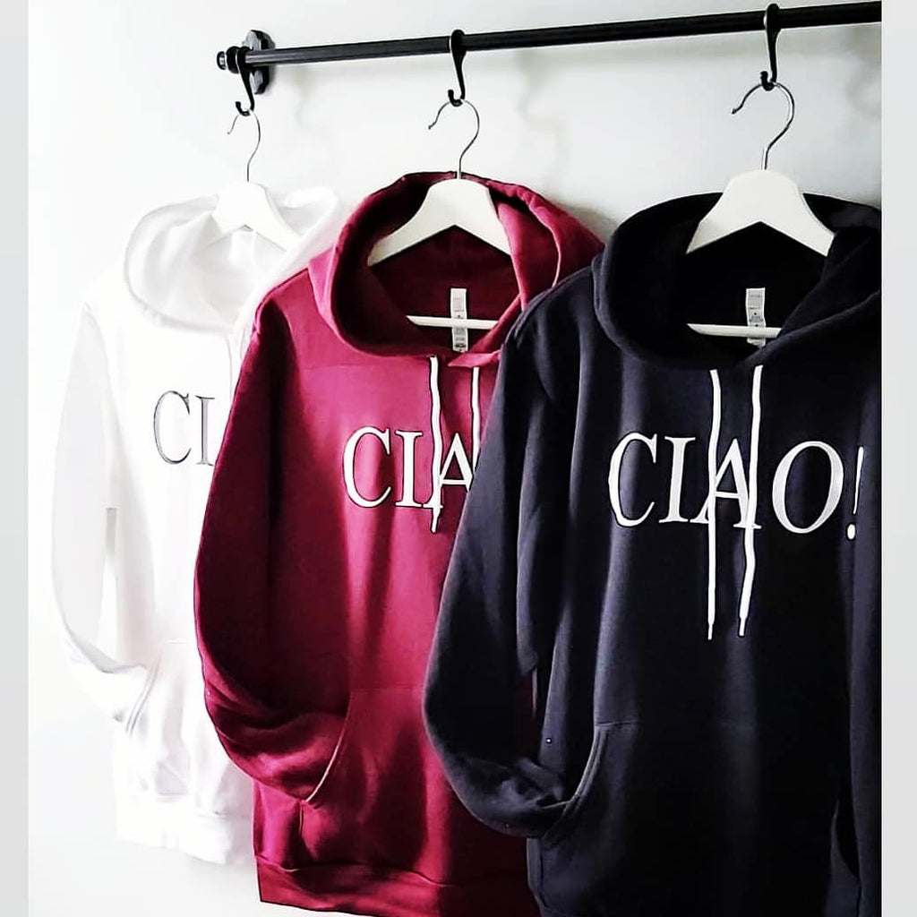 CIAO!  Hooded sweater