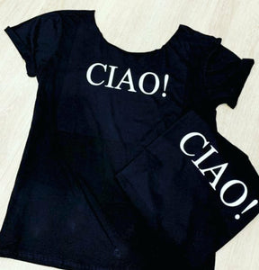 Black cut off shoulder - Ciao!