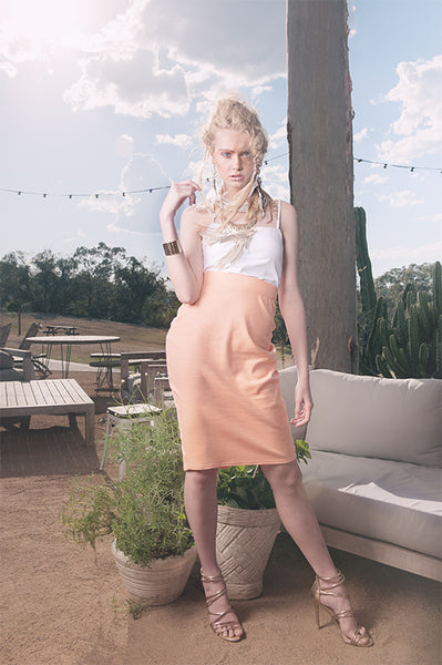 'DOWNTOWN' ORGANIC COTTON TUBE SKIRT
