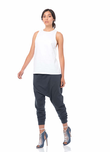 'RAW EDGE' ORGANIC COTTON SINGLET