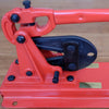 Bench mounted swage tool for 10mm synthetic rope
