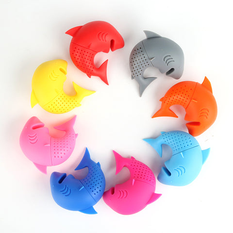 Multiple-Color-Shark-Tea-Infuser-Strainer
