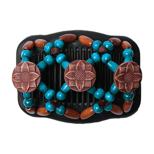 Magic Butterfly Wooden Beads Hair Comb