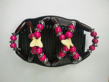 Load image into Gallery viewer, Magic Butterfly Wooden Beads Hair Comb
