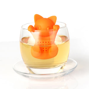 Silicone Cat Tea Infuser Or Strainer - Cat / Orange - Tea Infuser
