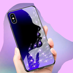 Uv Hardened Tempered Glass Pc Phone Case For Iphone X 8 8P 7 7P 6 6S 6P - Fish Group / Iphone 6/6S