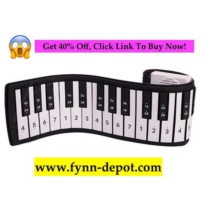 Flexi Roll-Up Piano For Beginners 37 Keys - Black - Roll-Up Piano