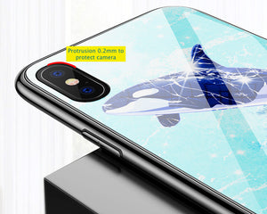 Uv Hardened Tempered Glass Pc Phone Case For Iphone X 8 8P 7 7P 6 6S 6P