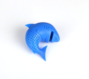 Silicone Cat Tea Infuser Or Strainer - Shark / Dark Blue - Tea Infuser