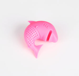 Silicone Cat Tea Infuser Or Strainer - Shark / Light Pink - Tea Infuser