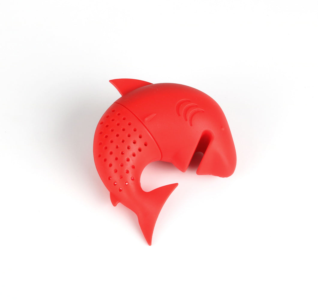 Silicone Cat Tea Infuser Or Strainer - Shark / Red - Tea Infuser