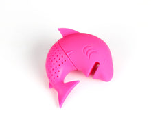 Load image into Gallery viewer, Silicone Cat Tea Infuser Or Strainer - Shark / Dark Pink - Tea Infuser