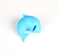 Load image into Gallery viewer, Silicone Cat Tea Infuser Or Strainer - Shark / Light Blue - Tea Infuser