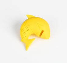 Load image into Gallery viewer, Silicone Cat Tea Infuser Or Strainer - Shark / Yellow - Tea Infuser