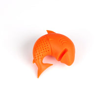 Load image into Gallery viewer, Silicone Cat Tea Infuser Or Strainer - Shark / Orange - Tea Infuser