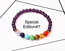 Load image into Gallery viewer, Healing 7 Chakras Lava Stone Beads 8mm Energy Bracelet-7 Chakra Bracelet-Fynn Depot-Special Edition# 7-Fynn Depot