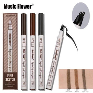 3 Colors Fine Sketch Fork Tip Eyebrow Enhancer Pen-Fynn Depot-Fynn Depot