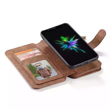 Load image into Gallery viewer, Luxury Iphone X Leather Wallet Case with Ziplock Card Slot-Fynn Depot-Fynn Depot