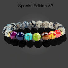 Load image into Gallery viewer, Healing 7 Chakras Lava Stone Beads 8mm Energy Bracelet-7 Chakra Bracelet-Fynn Depot-Special Edition# 2-Fynn Depot