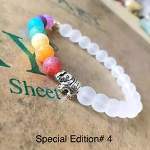 Load image into Gallery viewer, Healing 7 Chakras Lava Stone Beads 8mm Energy Bracelet-7 Chakra Bracelet-Fynn Depot-Special Edition #4-Fynn Depot